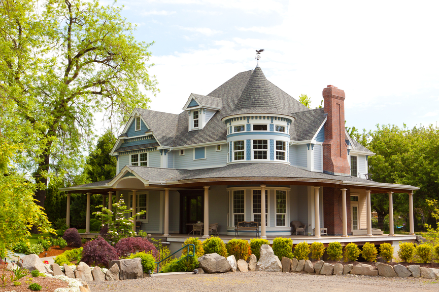 50 finest victorian mansions and house designs in the for Modern homes with wrap around porches