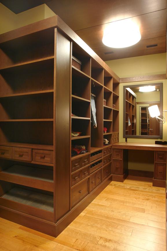 Large all wood wardrobe room