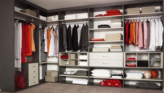 Spacious walk-in closet with exceptional closet organizer