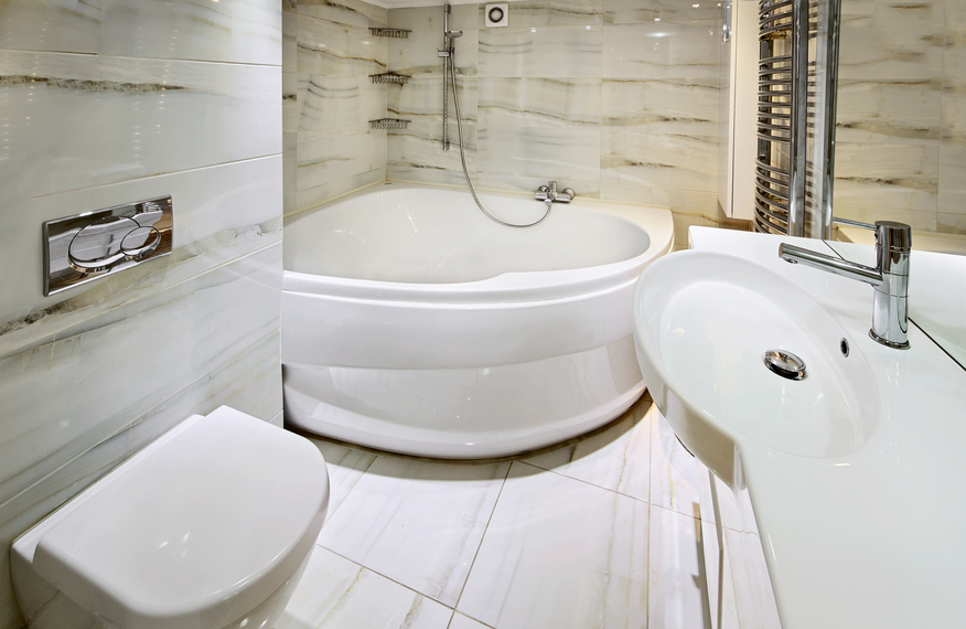 pictures of tranquil and luxurious white bathroom designs - Bathroom Designs With Bathtubs