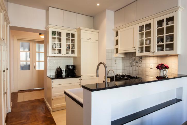Small Modern Kitchen with Peninsula