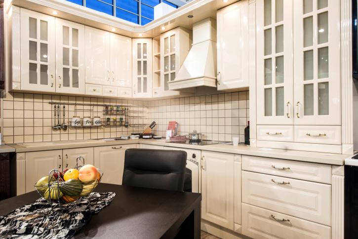 Small Elegant White Kitchen