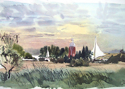 How Hill Drainage mill, Norfolk Broads