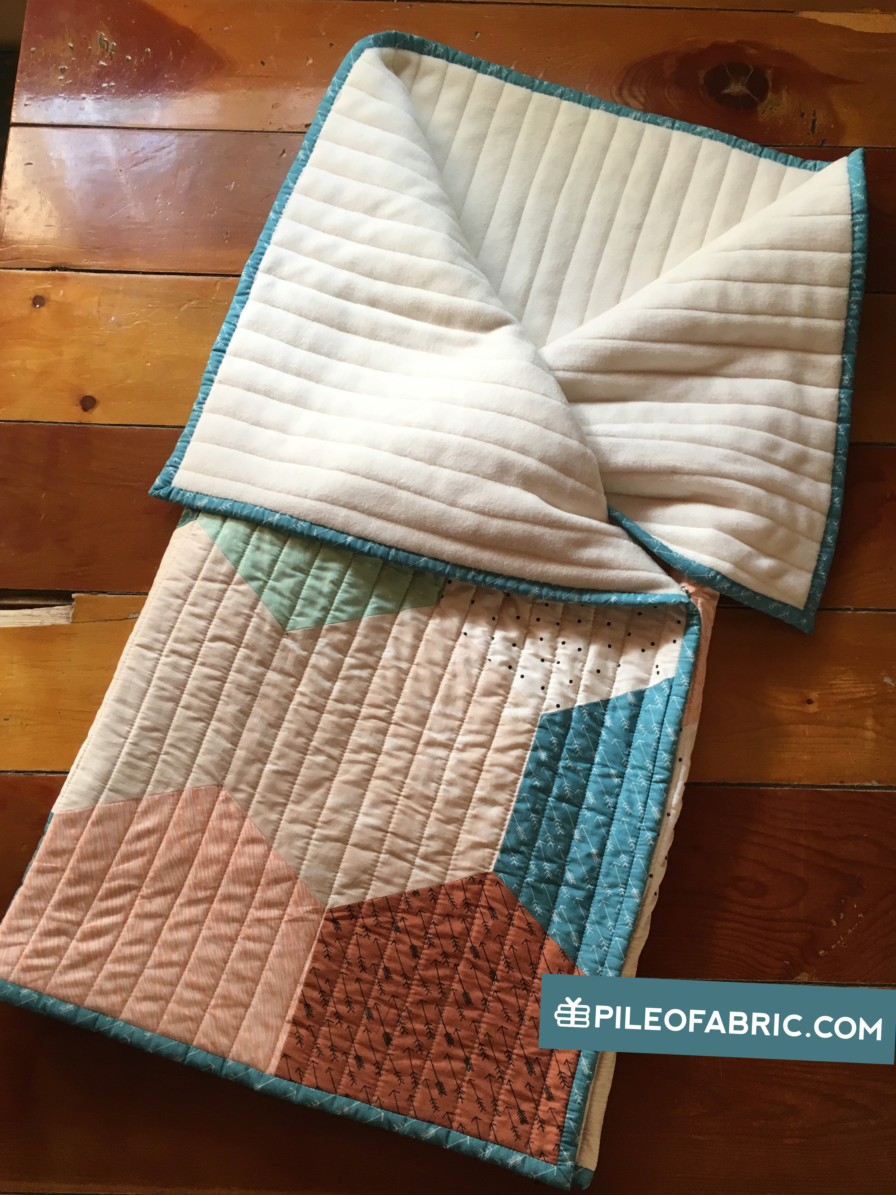 Converting A Quilt To A Baby Sleeping Bag Tutorial Pile O Fabric