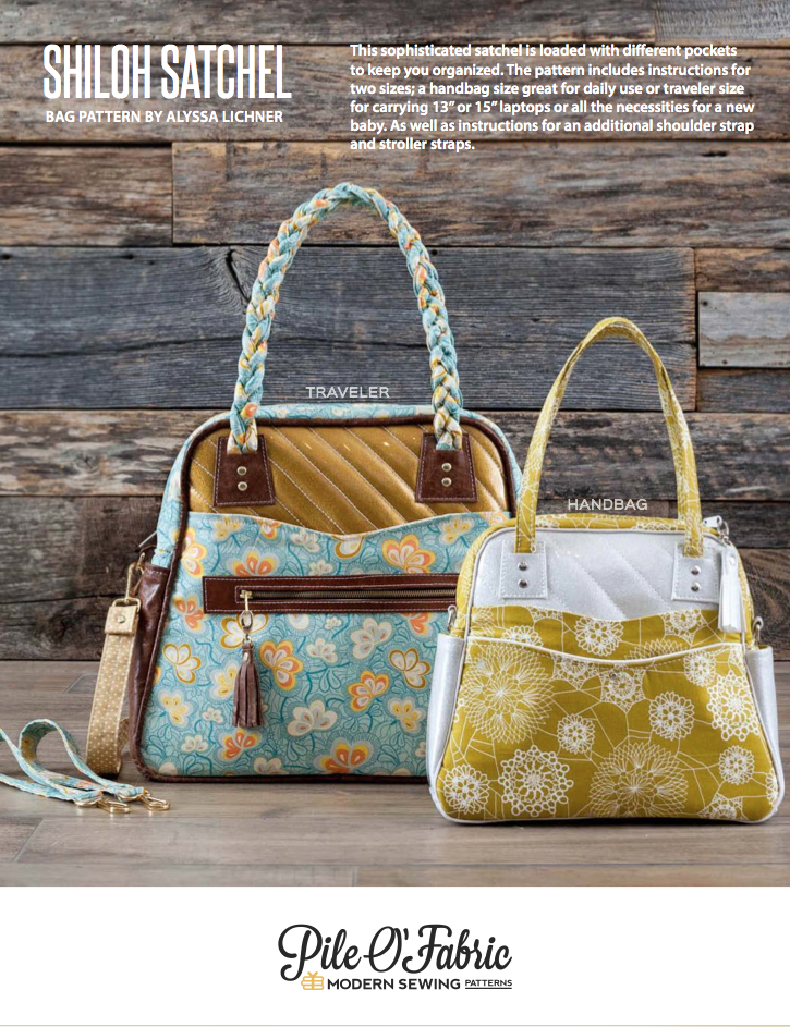 Shiloh Satchel Pattern and Step-by-Step Bag Making Tutorial - Pile O ...