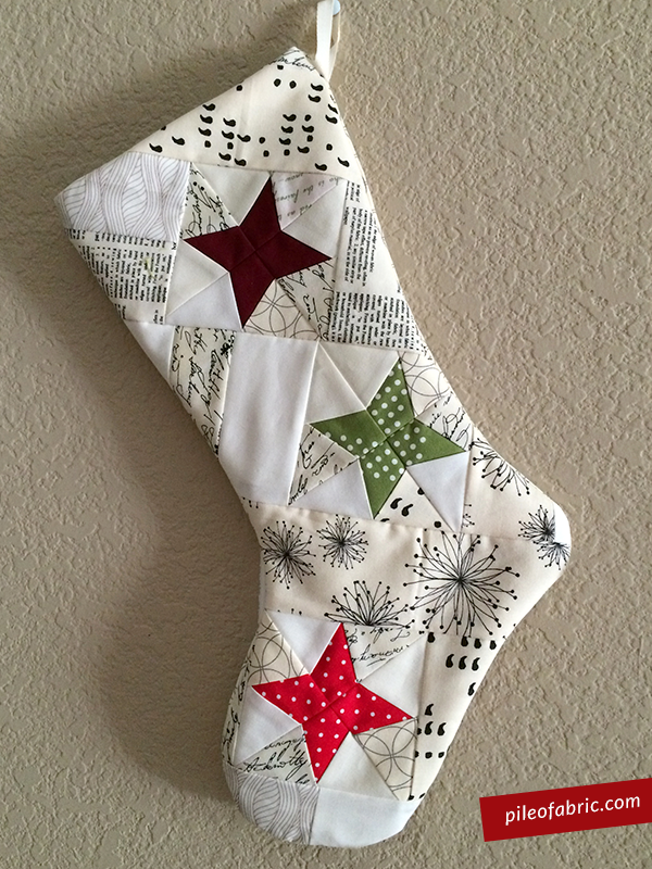 Celestial Stocking For The Alison Glass Celestial Gift Along Pile Gorgeous Quilted Christmas Stocking Pattern