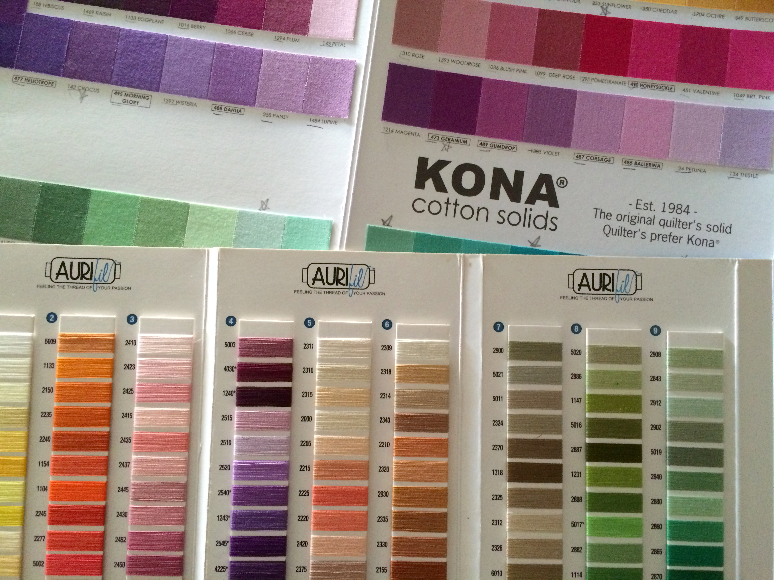 Kona to Aurifil Thread Conversion