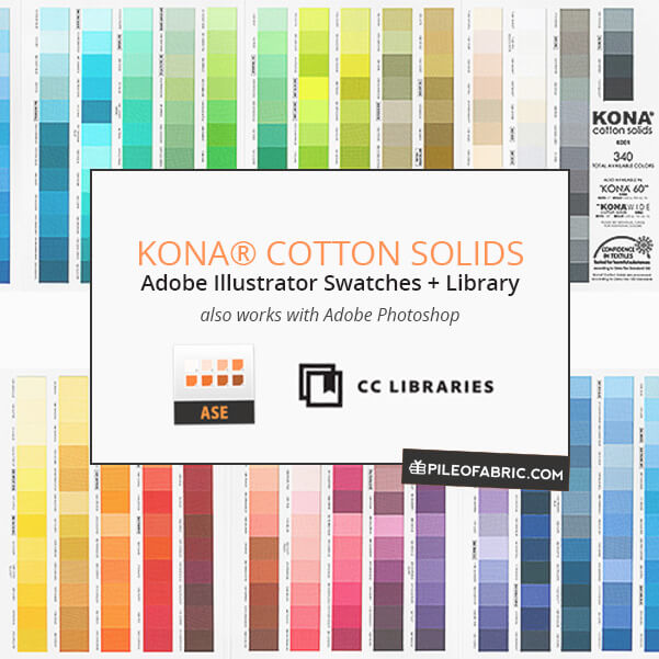 Kona Illustrator File Updated Kona Adobe Library Pile O Fabric