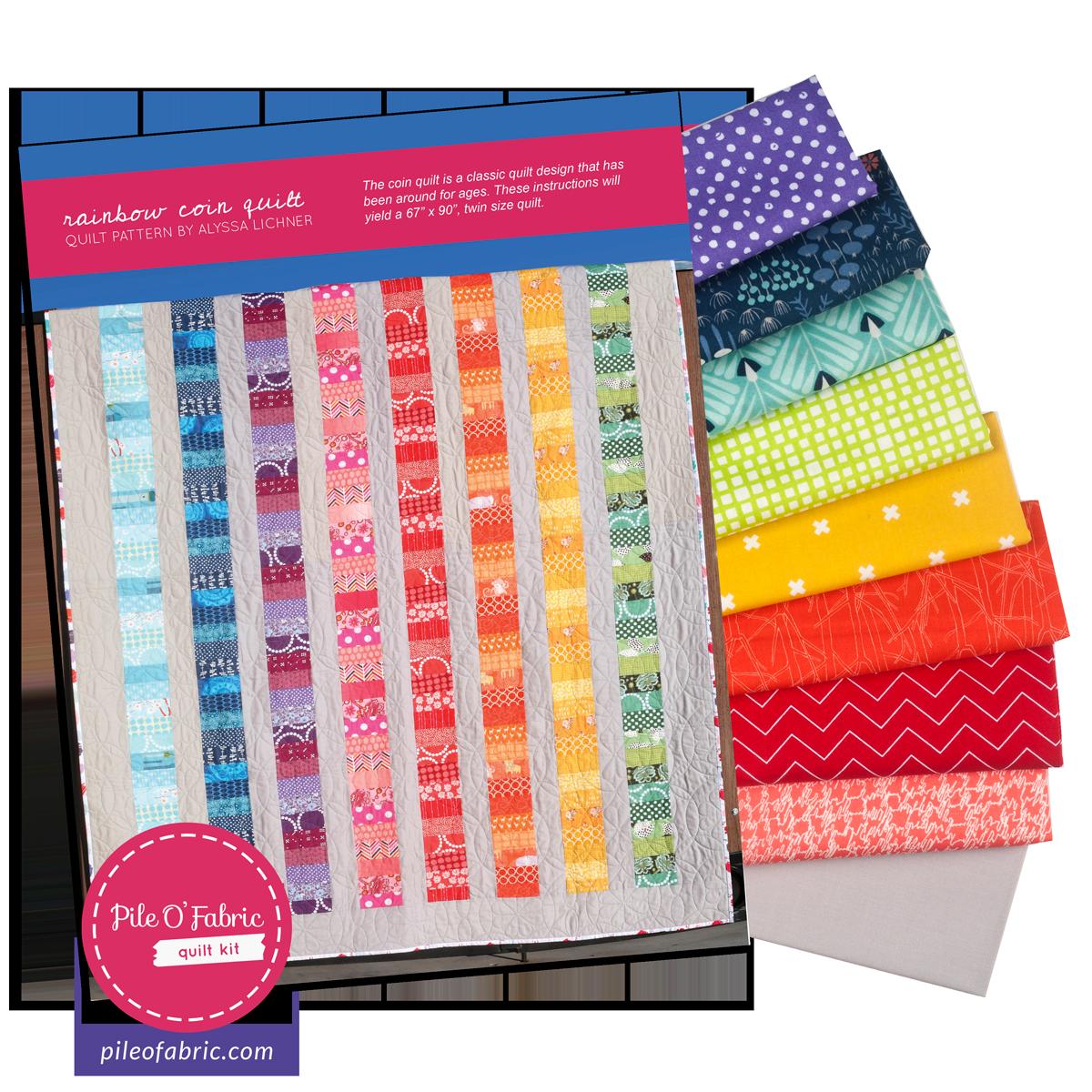 Rainbow Coin Quilt Kit