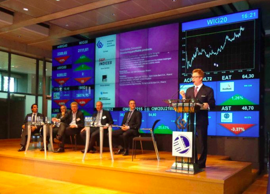 Eric Greschner, Regatta Research & Money Management, LLC speaking and chairing Eastern European institutional investment conference at the Warsaw Stock Exchange, Poland.