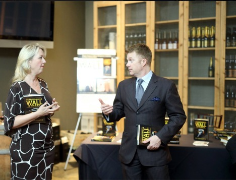 Eric Greschner and author of Wall Street 50 book signing at The Tasting Room, Houston