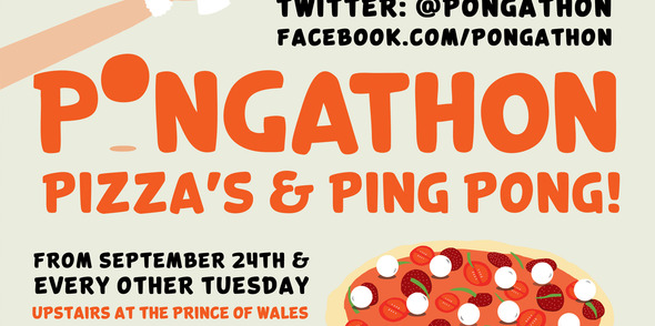 PONGATHON's 'PIZZA'S AND PING PONG' launches in Brixton Sept 24th!