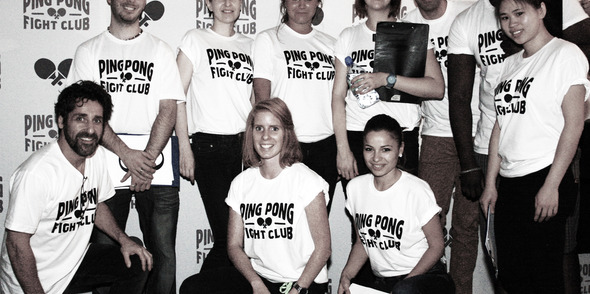 Pongathon Team helps launch Ping Pong Fight Club