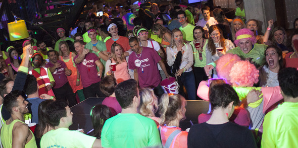 Mencap paints the city neon at it's annual ping pong championships!