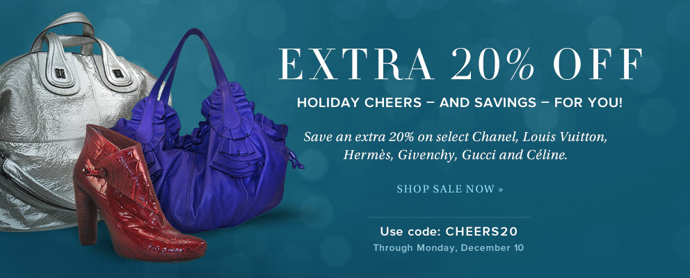 Extra 20% OFF Select Chanel, LV & Miu Miu @ Portero.com