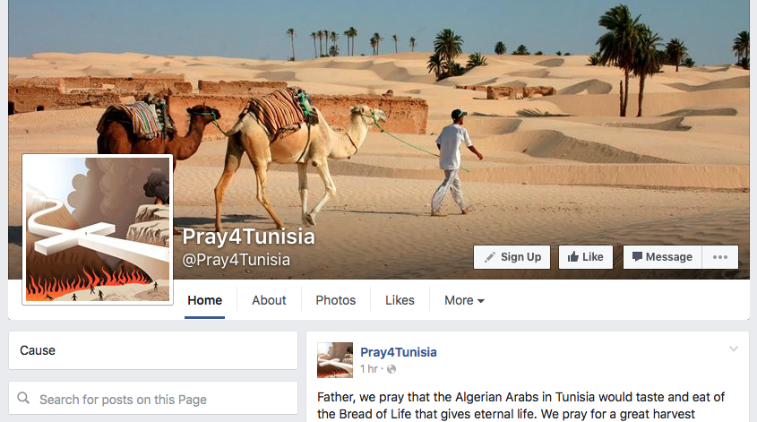 Pray4Tunisia Facebook