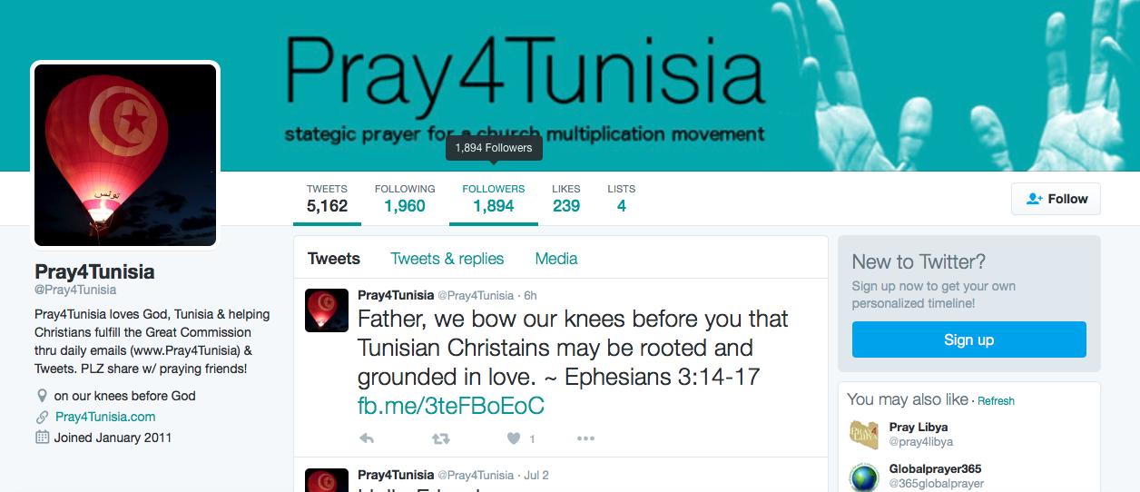 Pray4Tunisia Twitter