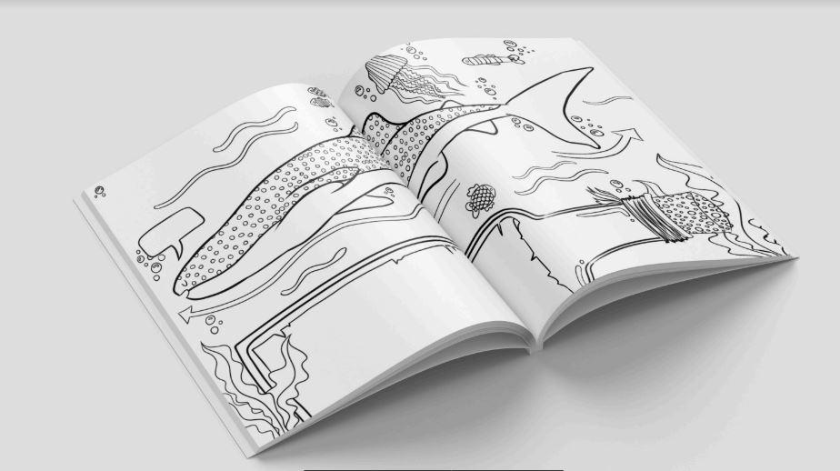 Donadora | Embajadores del Tiburón Ballena: Un libro para colorear