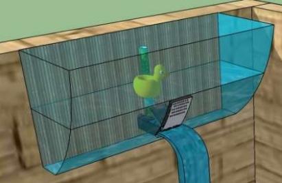 Fondeadora sistema de ahorro de agua para la regadera for Sistemas de ahorro de agua