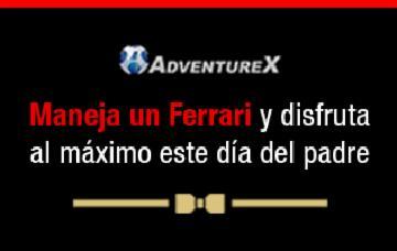 ¡Atrévete a manejar el Ferrari de tus sueños este día del padre!