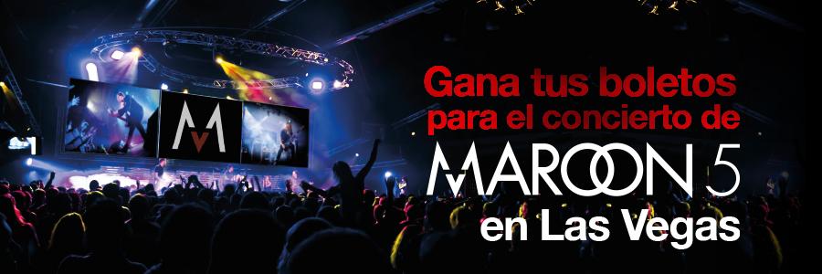 ¡Gana dos boletos para Maroon 5 en Las Vegas!