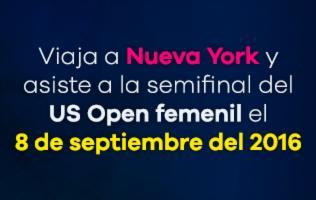 Asiste a la semifinal del torneo US Open en Nueva York