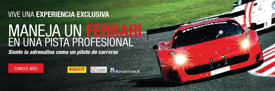 Atrévete a manejar el Ferrari de tus sueños.