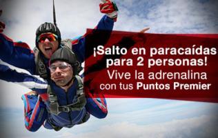 Atrévete a saltar a 9,000 metros de altura del paracaídas