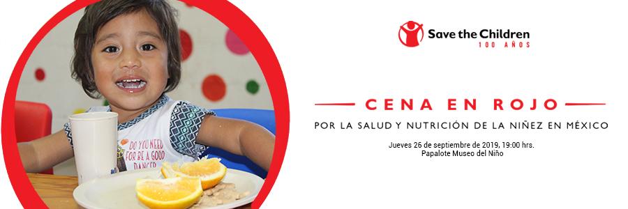 Cena en Rojo - 100 años de Save the Children.