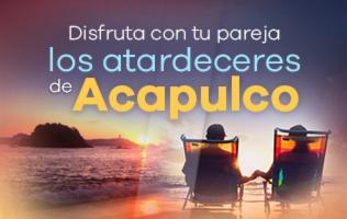 Disfruta con tu pareja del sol de Acapulco