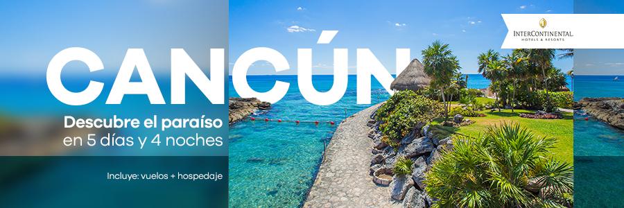 Disfruta de un viaje doble a Cancún 5 días, 4 noches.