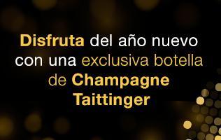 Exclusiva botella de champagne Taittinger Brut Reserve Jeroboam