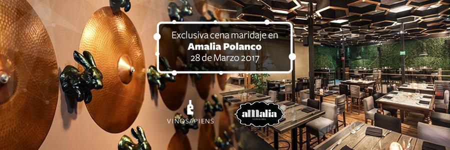 EXCLUSIVA CENA MARIDAJE EN AMALIA GUSTO & GRILL POLANCO