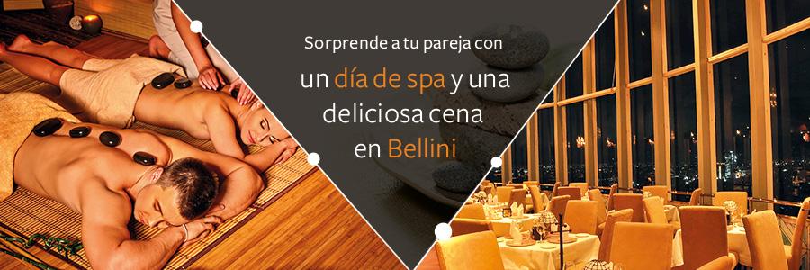 Plan Romántico con tu pareja, día de spa y cena en Bellini