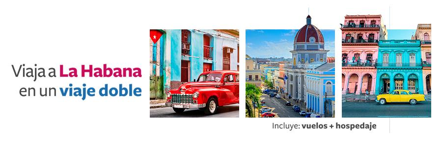 Viaje doble a La Habana Cuba