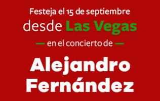 Vive México en el concierto de Alejandro Fernández en Las Vegas