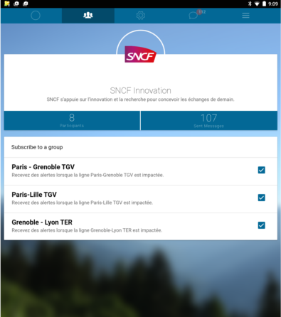 SNCF Digital Innovation and SmartNotify. Customer Application