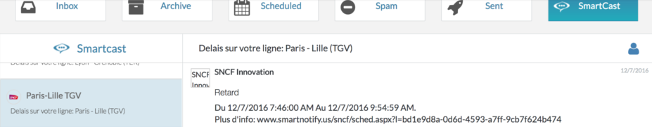 SmartNotify SNCF Experimentation For Customer Communications