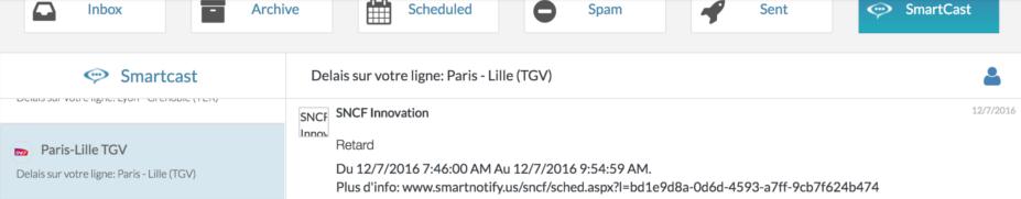 SmartNotify SNCF Experimentation For Customer Communications