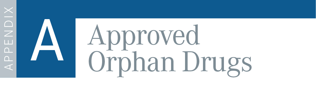 Appendix A: Approved Orphan Drugs