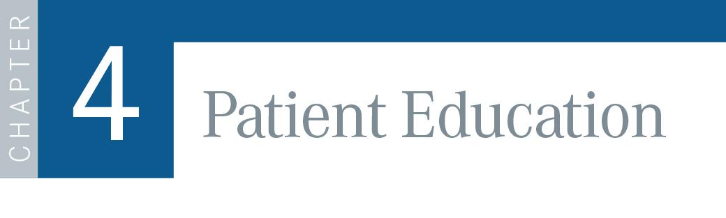 Chapter 4: Patient Education