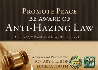 anti hazing law essay The anti-hazing law penalizes members of organizations only if an applicant suffers any physical injury or dies.