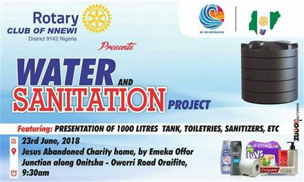 Donation of Water and San | Rotary Showcase