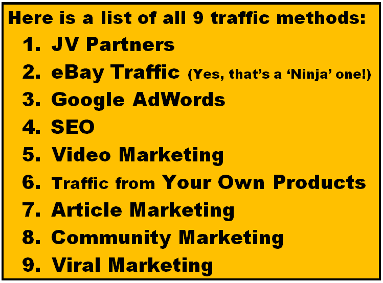 9 Traffic Methods from Toraffic.com