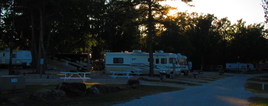 Auburn RV | Sunset Over The Park