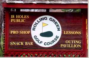 Rolling Green Golf Course Front Sign