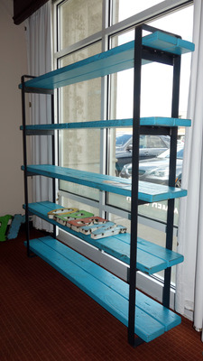 #605 Teal Bookcase