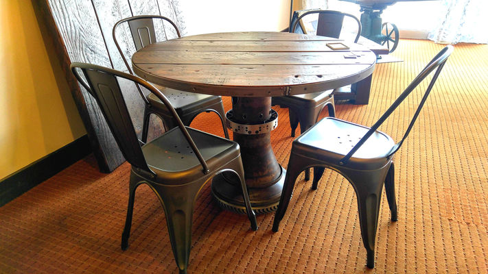 Jet Engine Kitchen Table w/ chairs - Rustic Refinery - Expertly Crafted Furniture Using Reclaimed Wood
