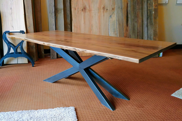 Walnut X-Base Table