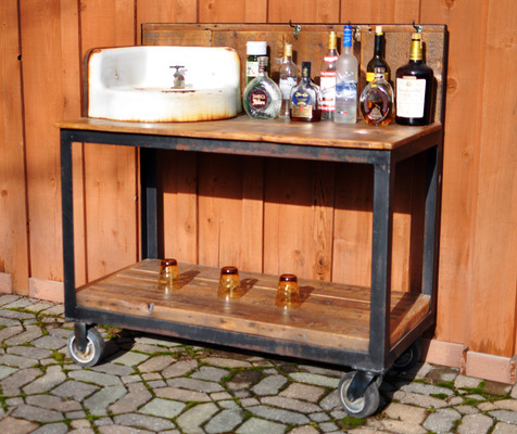 #400 Reclaimed Sink Cart
